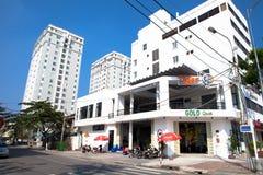 越南岘港白色大厦 图库摄影