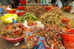 越南市场,河江市,越南 免版税库存照片