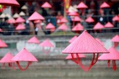 越南帽子在河内文学6 Templa  库存图片