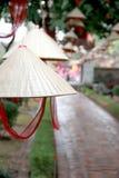 越南帽子在河内文学2 Templa  免版税库存照片