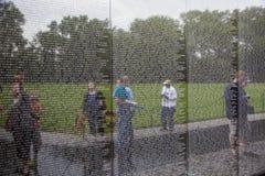 越南战争伤亡的名字在 图库摄影