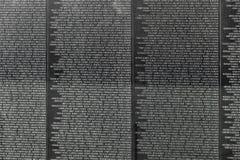 越南战争伤亡的名字在 库存照片