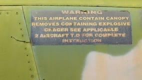 越南战争飞机的特写镜头 图库摄影