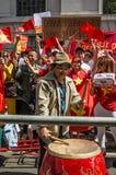 越南抗议的鼓手 图库摄影
