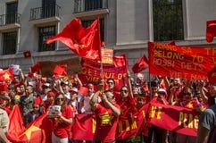 越南抗议者,伦敦 库存图片