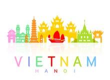 越南旅行地标 库存例证