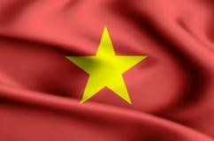 越南旗子例证 向量例证