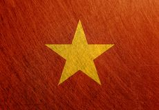 越南旗子葡萄酒,减速火箭,被抓, 免版税图库摄影