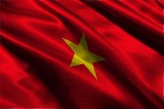 越南旗子,越南国旗3D例证标志 免版税库存图片