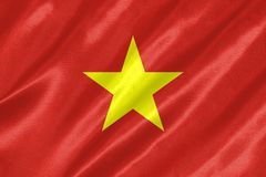 越南旗子 库存照片