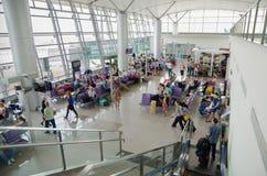 越南机场离开地区  库存照片