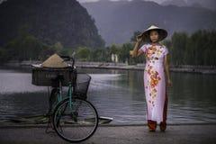 越南模型 库存图片