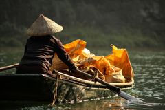 越南水市场 免版税库存照片