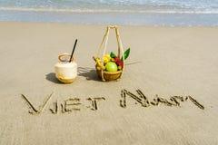 越南海滩 库存照片