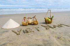 越南海滩 图库摄影