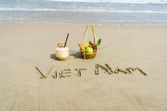 越南海滩 免版税库存照片