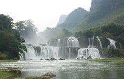 越南瀑布 免版税库存照片