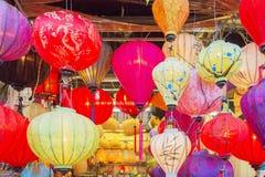 越南灯笼商店 免版税库存照片