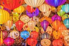 越南灯笼在会安市,越南 免版税库存照片