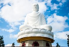越南的寺庙菩萨雕象 库存照片