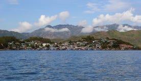 越南的海岸的小海口 免版税图库摄影
