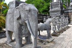 越南的皇家坟茔 库存照片
