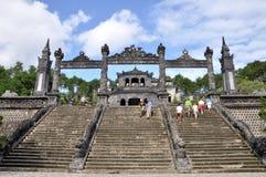 越南的皇家坟茔 库存图片