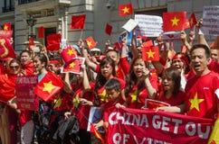 越南示范,伦敦 库存照片