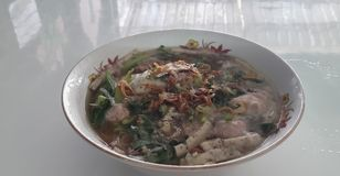 越南米线汤 库存照片