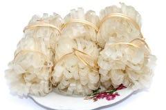 越南米线 半新烹调 免版税库存图片