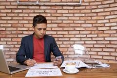 越南经理精整项目 免版税库存照片