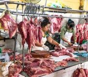 越南肉类市场 免版税库存图片