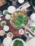 越南膳食 免版税库存照片