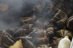 越南蒸汽米 库存照片