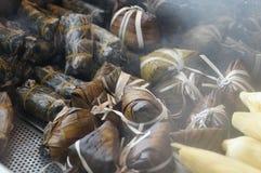 越南蒸汽米 免版税库存图片