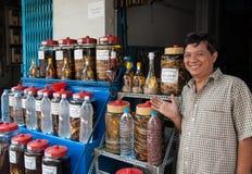越南蛇酒 免版税库存图片