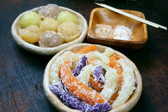 越南街道食物,甜蛋糕 库存照片
