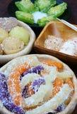 越南街道食物,甜蛋糕 免版税图库摄影
