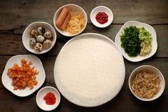 越南街道食物,被烘烤的带蛋糕 免版税库存照片