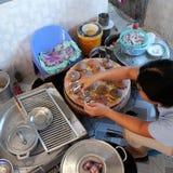 越南街道食物, banh能 库存图片