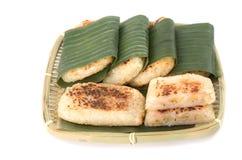 越南语烤了香蕉蛋糕 库存图片
