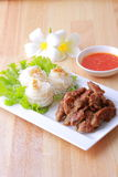 越南语烤猪肉细面条 库存照片
