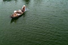 越南语的渔夫 免版税库存照片