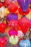 越南语的灯笼 免版税库存照片