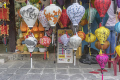 越南语的灯笼 免版税图库摄影
