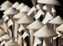 越南语被雕刻的木雕象 库存图片