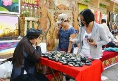 越南语,胡志明露天市场 库存照片