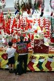 越南语;购物,市场,圣诞节假日 免版税库存图片