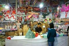 越南语;购物,市场,圣诞节假日 免版税库存照片