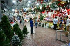 越南语;购物,市场,圣诞节假日 库存图片